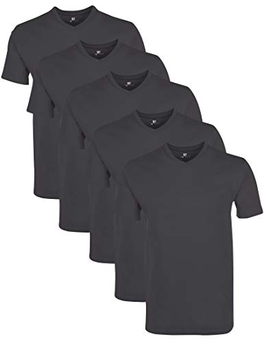 Lower East LE156 T-Shirt, Forged Iron, 2XL, 5er-Pack