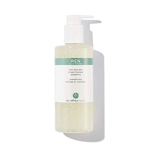 REN Clean Skincare Oat and Bay Conditioning Shampoo, Moisturizing, Sulfate-Free Shampoo for All Hair Types, 10.2 Fl Oz