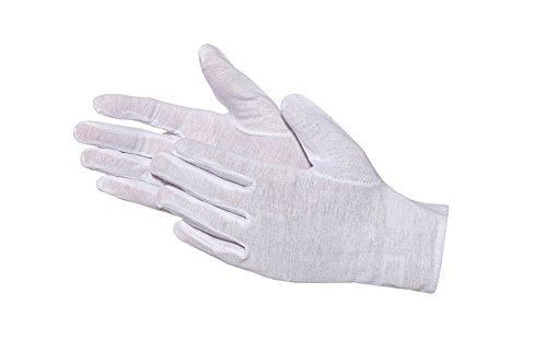 Jah 1092 - Guanti in cotone Oekotex sottile, 12 paia, colore: Bianco
