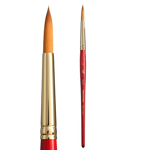Princeton Heritage, Series 4050, Synthetic Sable Paint Brush for Watercolor, Round, 8