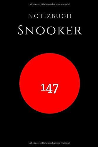Snooker Notizbuch Billard: für Billard,Snooker,Karambolage