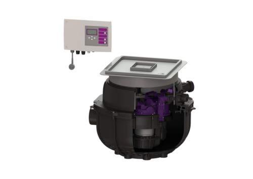 KESSEL Hebeanlage Aqualift S Compact Duo, GTF 1200, resist, Bodenpl, befl. 281230XC