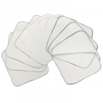 Avo+cado - Toallitas de franela de doble capa con rizo, 12 unidades, color gris