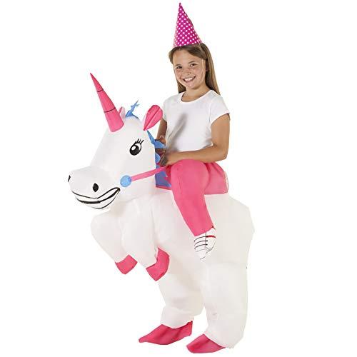 Paseo Niño En Disfraz Inflable De Unicornio Caballo Mágico Disfrazarse Para Niños Y Niñas , color/modelo surtido