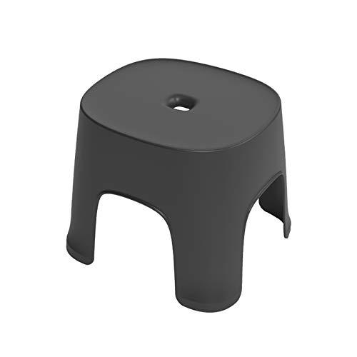 SovelyBoFan - Mesa de centro antideslizante de plástico simple para adultos engrosamiento taburete infantil para zapatos, taburete corto, color negro