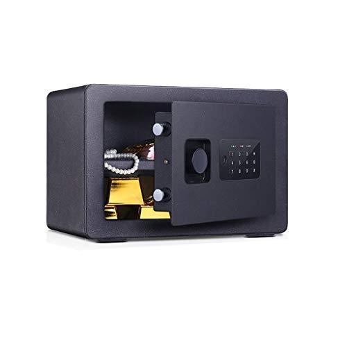 GLLP Safe Hogar Pequeño Invisible, Contraseña, Oficina Caja Fuerte 20 cm Anti-robo huella digital Mini alarma Caja de seguridad (Color: Negro contraseña)