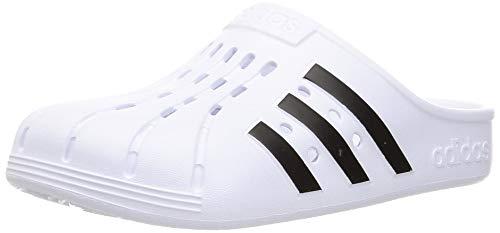 adidas Adilette Clog, Unisex-Sandalen für Erwachsene, Weiß - Mehrfarbig, (Ftwbla Negbás Ftwbla) - Größe: 43 1/3 EU