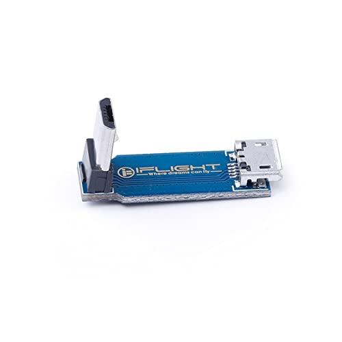 LMIAOM Tipo L Placa Adaptador de 90 grados Micro USB Macho a Hembra Soporte Transmisión de Datos Función de Sincronización para FPV Drone DIY Accesorios Instalación (Color: L USB Placa Adaptador)
