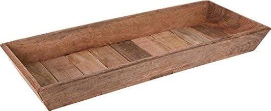 Kerzentablett Holztablett Echtholz Serviertablett Holz Deko Tablett 49x20 cm