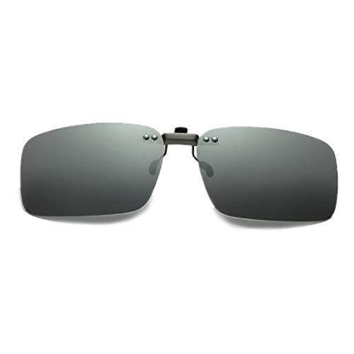 DAUCO Aufstecker Sonnenbrille für Brillenträger mit Brillen-Etui für Herren und Damen Sonnenbrillen-Clip