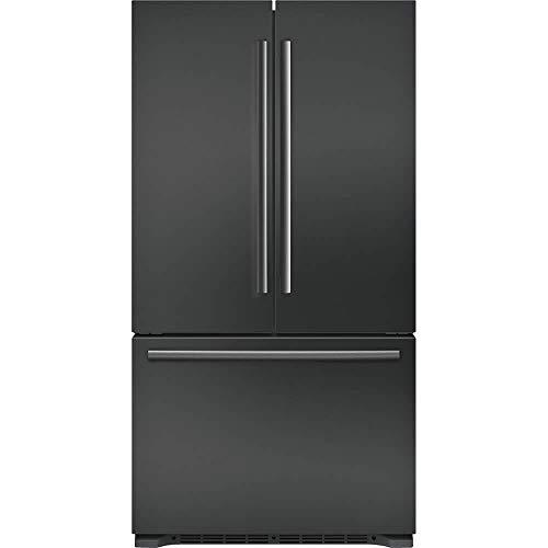 """'Bosch 800 Series 36"""" Black Stainless Steel 3-Door Counter Depth French Door Refrigerator'"""
