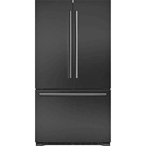 'Bosch 800 Series 36' Black Stainless Steel 3-Door Counter Depth French Door Refrigerator'