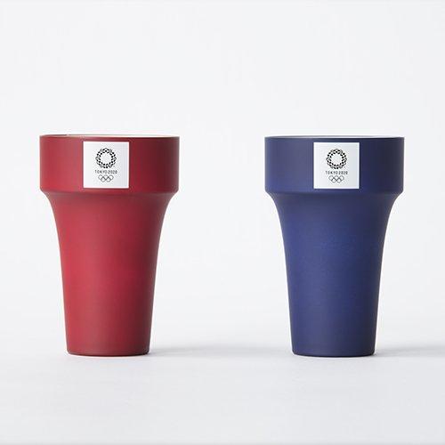 東京 2020 オリンピック 組市松紋 エンブレム 山中塗 ペア タンブラー 合成漆器