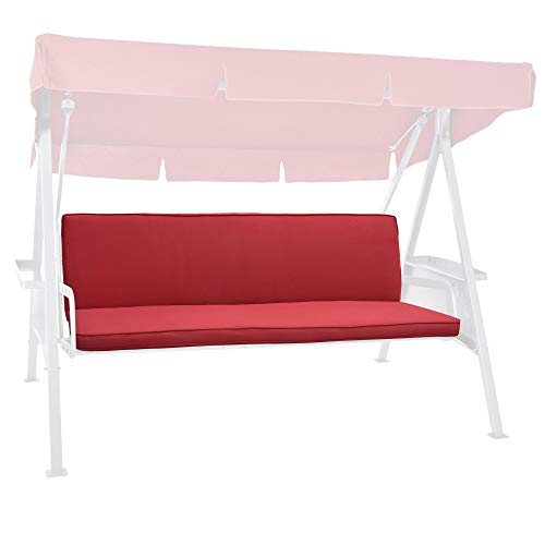 Beautissu Hollywoodschaukel Auflage Loft HS 180x50cm Polster Auflagen für 3-Sitzer Hollywoodschaukel mit Rückenkissen Polsterauflage Sitzpolster Rot