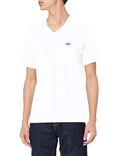 Levi's Herren Orig Hm Vneck T-Shirt, White (White 0000), X-Large
