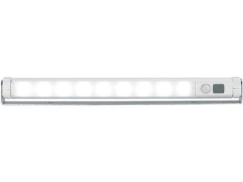 Lunartec LED Leiste Batterie: Schwenkbare Lichtleiste, Bewegungsmelder, 9 SMD-LEDs tageslichtweiß (LED Leiste mit Bewegungsmelder)