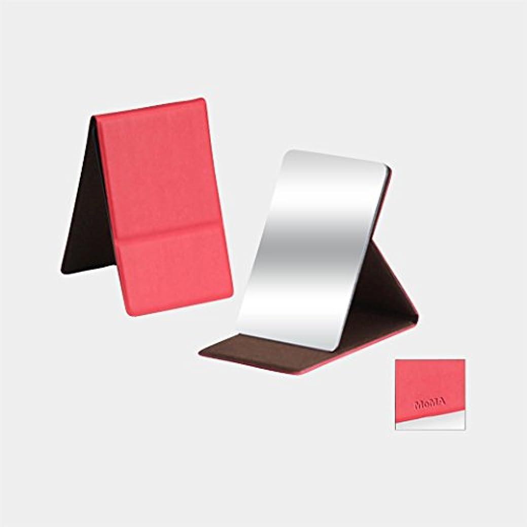 カジュアルかび臭いこどもの宮殿MoMA ステンレス コンパクトミラー レッド