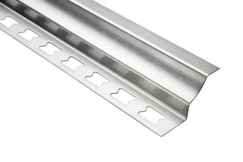 HEXIM 10mm Treppenkantenprofil rund Sparpakete - Edelstahlschienen, silber gebürstet - 10 Stück = 20 m á 2,00 m
