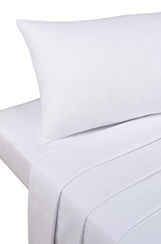 Bedding Heaven 2' 6' Percale 180 Thread Count Fitted Sheet. White. Ideal for Bunk Bed, Small Single and Caravan Bed.