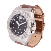 Otumm AUA003 automatico 45 mm in acciaio inox marrone cinturino in pelle orologio unisex