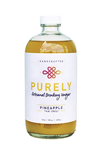 Purely Drinking Vinegar - Pineapple Thai Chili Shrub Drink Mix - Apple Cider Vinegar Fruit Infused, Cocktail/Mocktail/Healthy Tonic Mixer, Boost Immunity & Aid Digestion - 16 oz