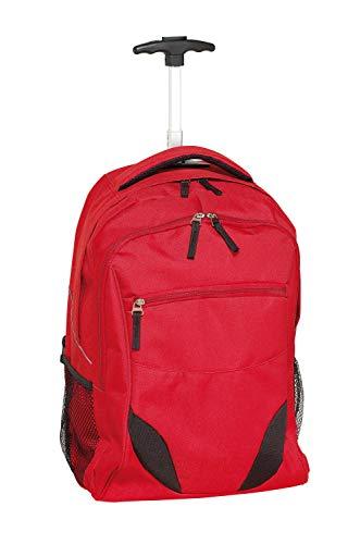 out Bag Trailer - Mochila con Ruedas, Color Rojo