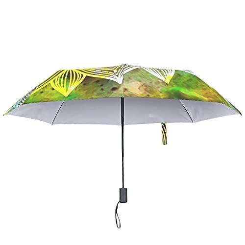 Paraguas de lluvia amarillo mágico, cierre automático, bohemio, resistente al viento, 8 varillas invertidas, White (Blanco) - COMBON Shop-UBR