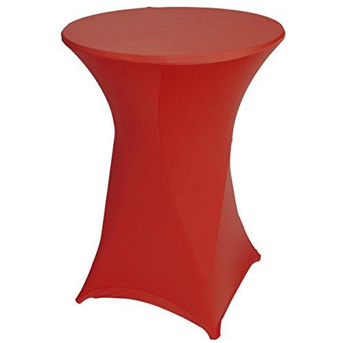 Stehtischhusse Rot, Maße: Ø80x110cm