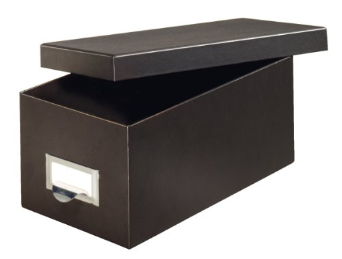 Globe-Weis/Pendaflex Fiberboard Index Card Storage Box, 4 x 6 Inches, Solid Black (4X6BLA)