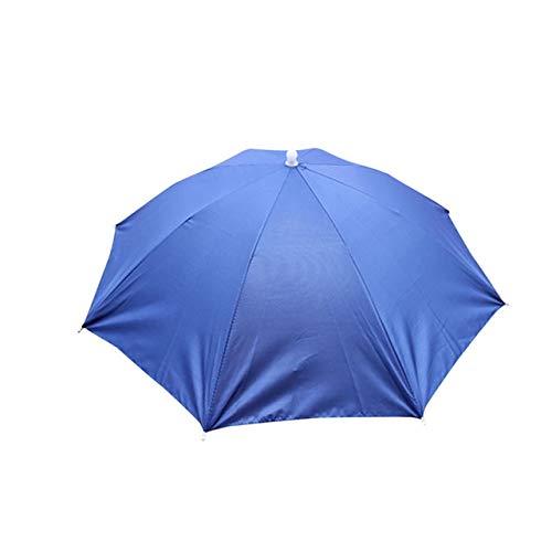ZGMMM Camouflage Opvouwbare zon Paraplu Golf Vissen Camping Hoofddeksels Cap Hoofd Hoed Outdoor A