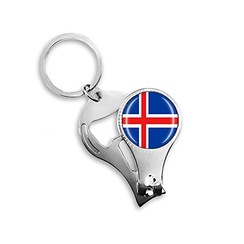 Island Nationalflagge Nagelknipser Schlüsselanhänger Rucksack Anhänger Schlüsselanhänger Geschenk Reise Souvenir Multifunktions Kombination