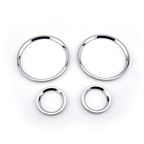 Pingping ZZPING 4 unids plástico ABROMO Chrome Gauge DIAL Dash Rings Rings DAPER Tabler CUBIERTE Forma para MK4 Ajuste para Zafira A Ajuste para Vauxhall FIT FOR para Opel FIT para Astra G 98-2005