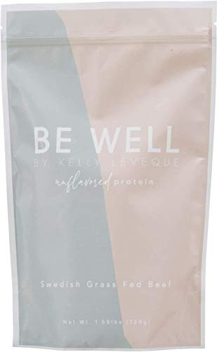 Be Well by Kelly - Swedish Grass-Fed Beef Protein Powder - Paleo and Keto Friendly, Dairy-Free & Gluten-Free - Low Carb Protein Powder with BCAAs & Collagen - 23g Protein (Unflavored - 30 Servings)