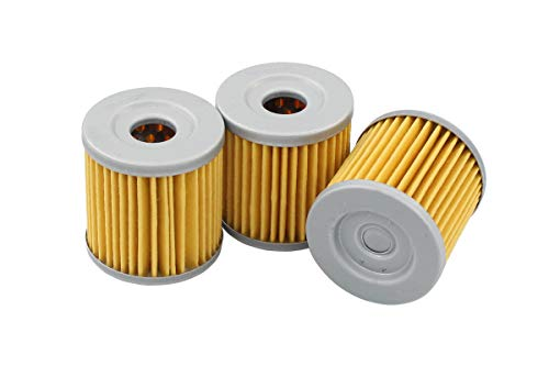 Pack of 3 Oil Filter for Suzuki LT-Z400 LTZ400 Quadsport LTR450 Quadracer DRZ400 DRZ400E DRZ400S DRZ400SM Kawasaki KFX400 KLX400 Arctic Cat 400
