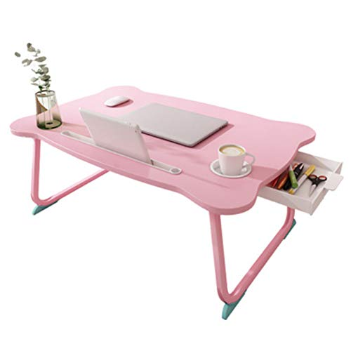 BEICHENG Adjustable Laptop Desk, Minimalist Design, Folding Portable ARC Gripper, Light Laptop Desk, Bedside Office Dining Table for Travel