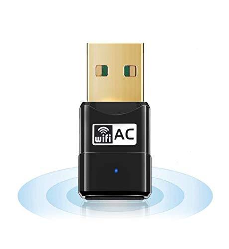 Preisvergleich Produktbild Maxesla USB WiFi Adapter 600M Mini WiFi Dongle 802.11ac,  Dual Band 2, 4 / 5 GHz Wireless Netzwerk Adapter für PC / Desktop / Tablet / Laptop Kompatibel mit Windows,  Mac OS X