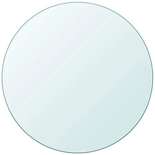 vidaXL Tablero Superficie Redonda de Mesa de Cristal Vidrio Templado 700 mm