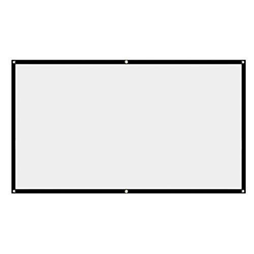 Generic Einfacher klappbarer weicher Vorhang HD tragbarer Projektorvorhang Polyester Spandex Weiß 120 Zoll