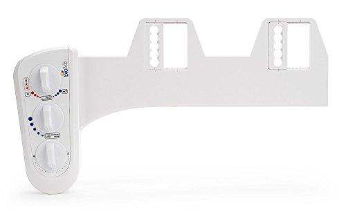 Bio Bidet BB-270 Duo Dual Nozzle Hot & Cold Fresh Water Spray Non-Electric Bidet Toilet Seat Attachment, Posterior & Feminine Wash, Certified Check Valve, Brass Inlet, DIY Easy Install