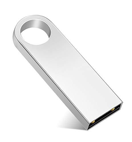 TPSON - Chiavetta USB da 512 GB, Flash Drive, memoria Stick, rotazione disco per PC e computer, colore: Argento
