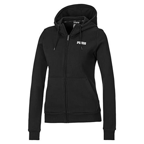 PUMA Essentials Damen Fleece Sweatjacke mit Kapuze Cotton Black M