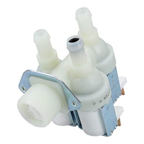 DL-pro Valvola magnetica adatta per Miele 1678013 tripla 90° 10,5 mm con riduzione per lavatrice