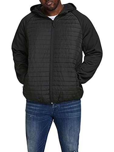 Jack & Jones JJEMULTI Quilted Jacket PS Noos Chaqueta, Negro, 5XL Grandes para Hombre