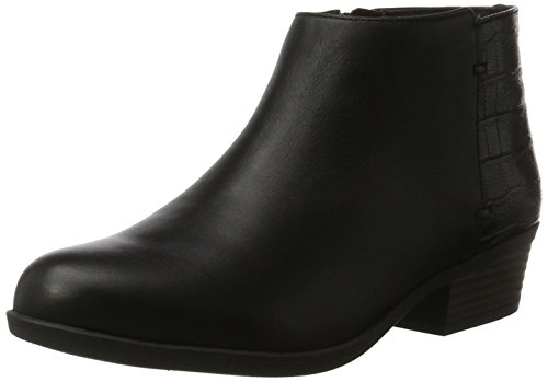Clarks Addiy Zora, Botas Militar, Mujer, Negro (Black Leather), 38 EU
