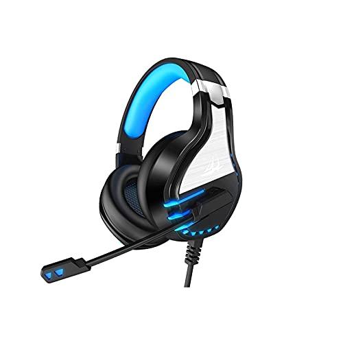 WGLL Auriculares de Juego, PC PS 4 Auriculares y micrófonos, Auriculares de Juego con micrófonos de cancelación de Ruido, Auriculares estéreo Adultos para niños