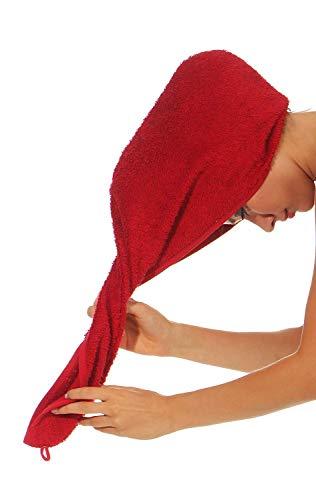 NATURA WALK Haarturban aus Bio -Baumwolle Farbe Bordeaux, Größe Turban