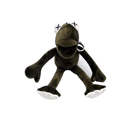 Langbein Frosch Plüschtier 19 Cm, Lustige Frosch Schlüsselanhänger Rucksack Großes Anhänger Geschenk