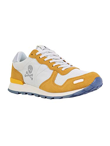 Scalpers Folk Sneakers - Sneaker Para Hombre, Talla 45, Color Mostaza