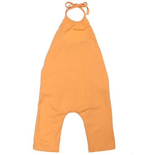 amropi Sommer Strampler Baby Mädchen Body Romper Neckholder Einteiler Hose Jumpsuit Orange,2-3 Jahre
