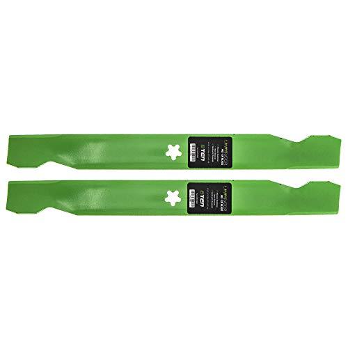8TEN LawnRAZOR Hi Lift Blade Set for 42 inch Deck Craftsman Poulan AYP Husqvarna 138498 134149 138971 532138971 2 Pack